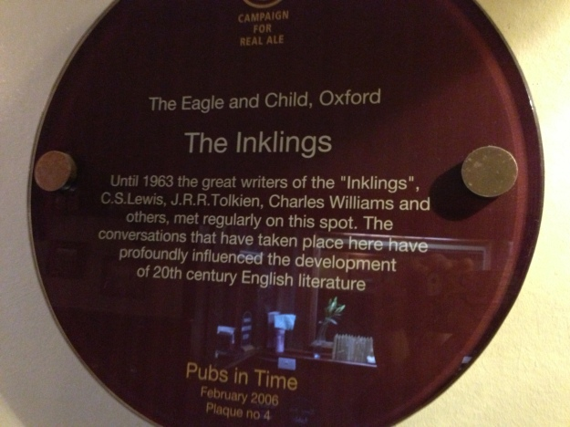 Tolkien was here....oh..and CS Lewis...