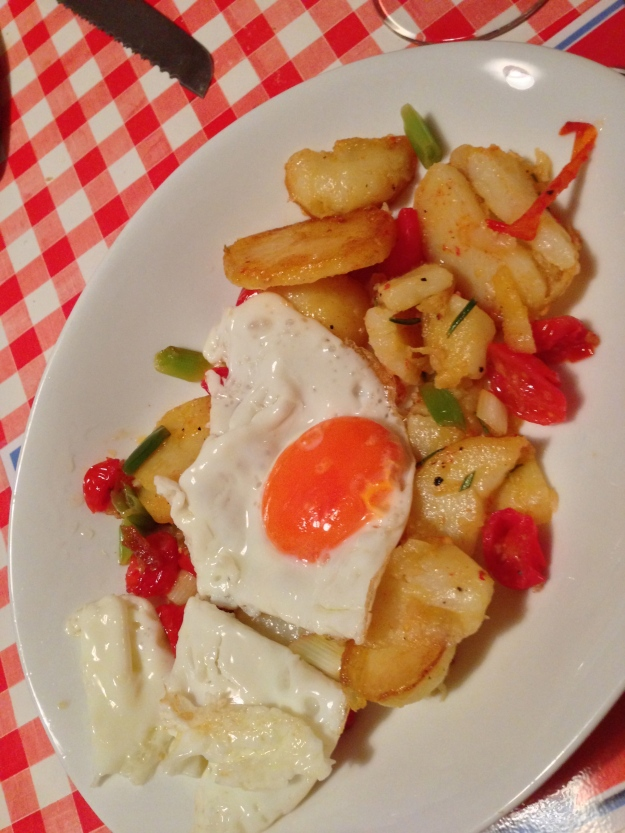 Saturday Supper Part Deux - Med Eggs...