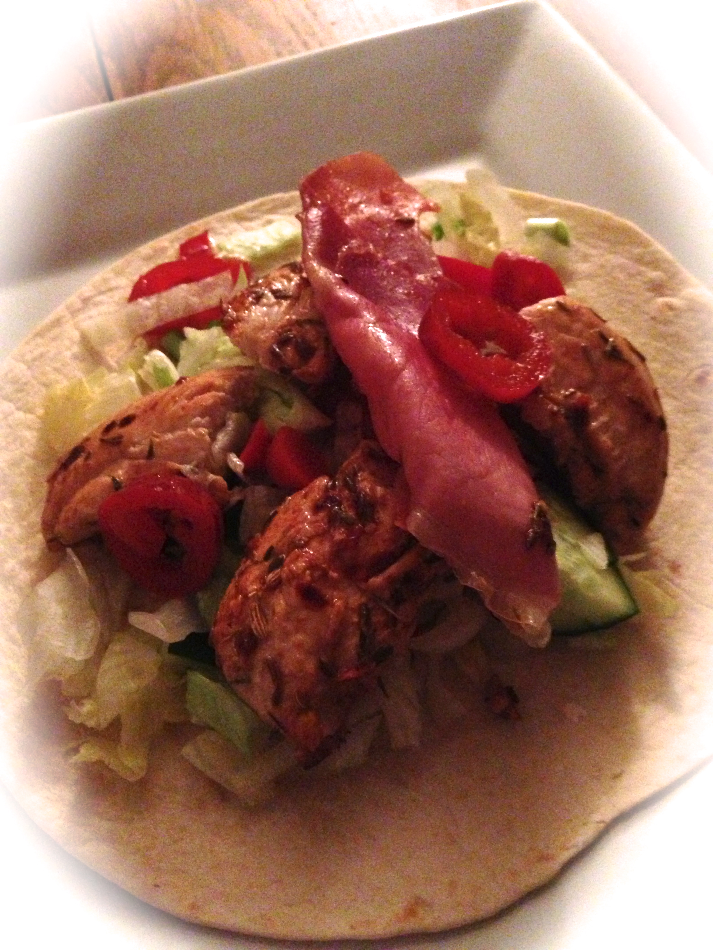 A fab fajitas for a wet Wednesday....