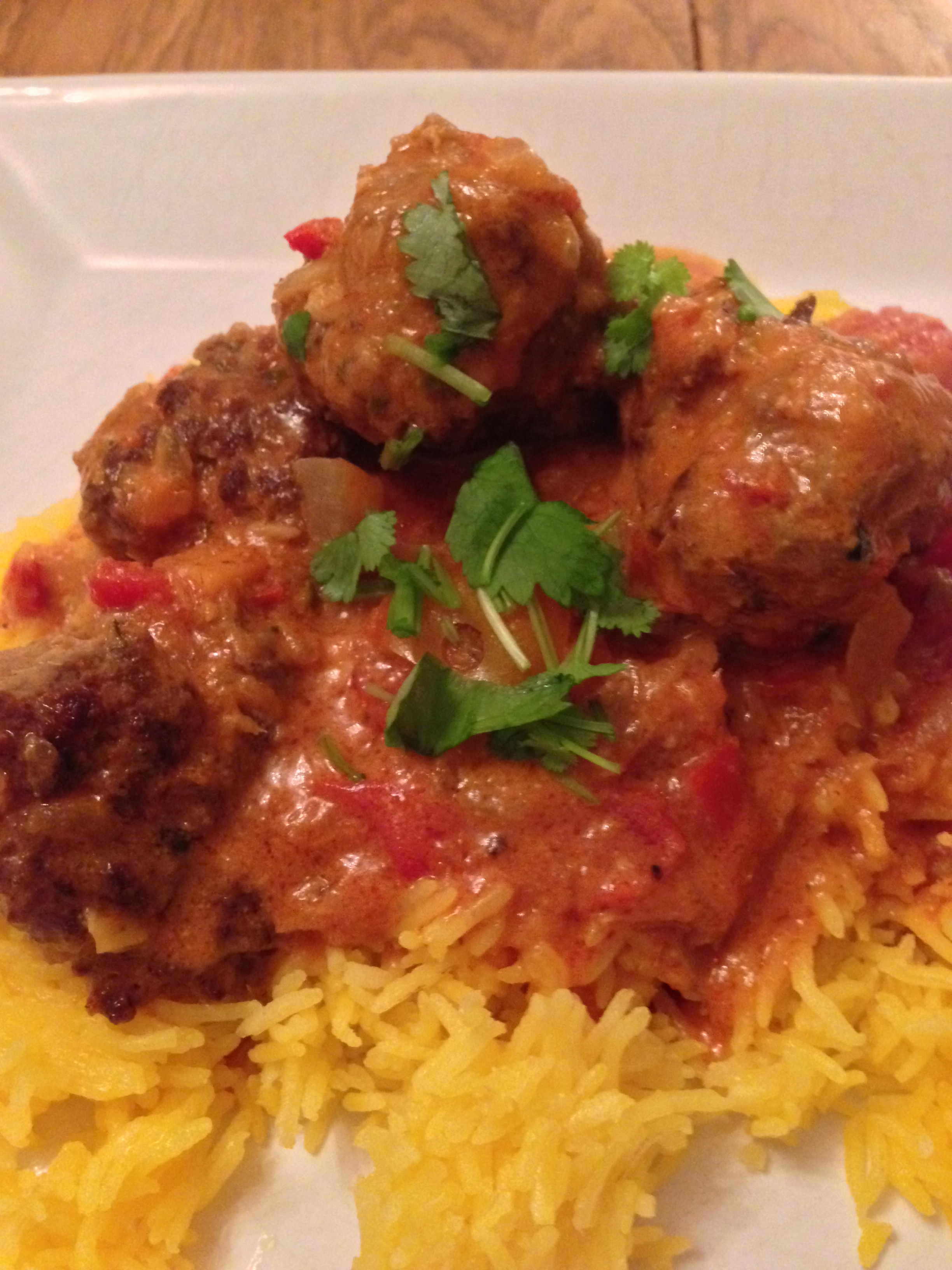 Spicy Meatballs in Coconut Curry Sauce!