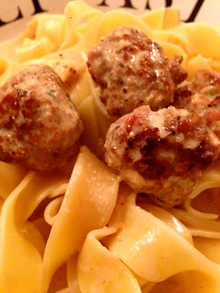 Sausage Meat Balls in a mustard and cream sauce... (1/3)
