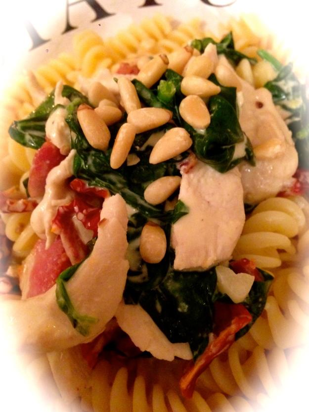 Monday night magic...a pasta dish to pacify the beast