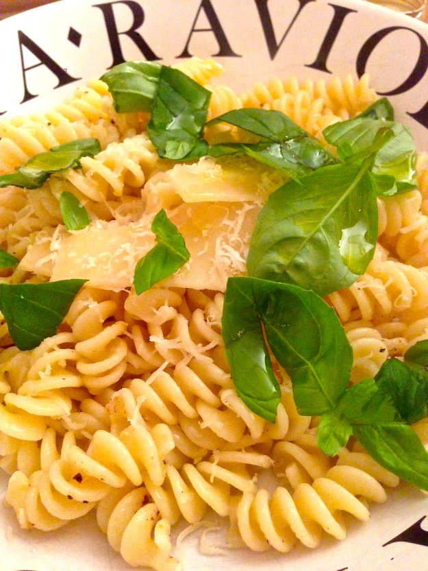 Parmesan, pasta and basil…a hearty trinity!