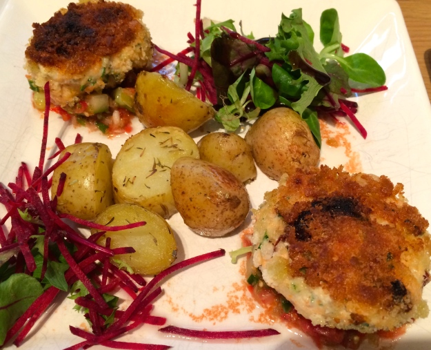 Coriander and Sun Dried Tomato Fish Cakes...