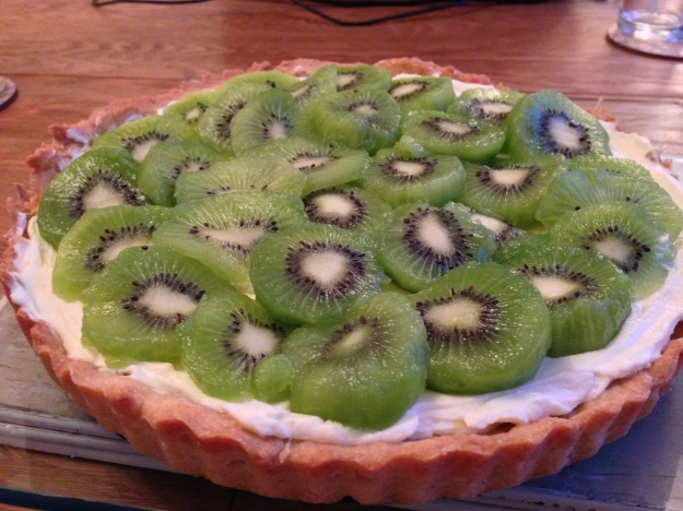 Kiwi and lime tart...wo!